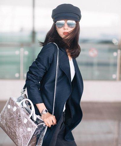 王珞丹机场造型好高冷 王珞丹那些率真发型你喜欢吗