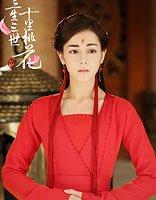 三生三世版红白玫瑰 迪丽热巴红衣古装美若仙人