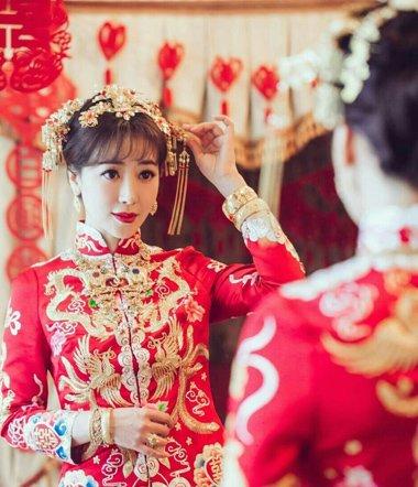 从陈紫函的婚礼看发型 结婚必备的几款发型都在了