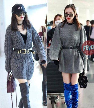 学杨幂娜扎毛衣与发型搭配 秋冬季毛衣与发型的时髦搭配