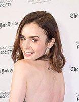 lily collins回眸一笑好迷人 Lily Collins气质发型好养眼