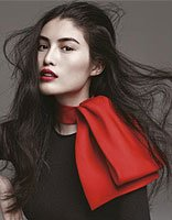 东方瓷娃娃贺聪 国际超模如何搭配发型