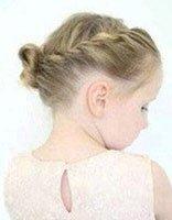 孩子头发短的时候如何梳小辫 短头发扎辫子的方法图解