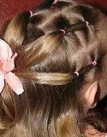 怎样为小孩的短发扎头发辫 2岁宝宝怎么扎竹节辫+头发短