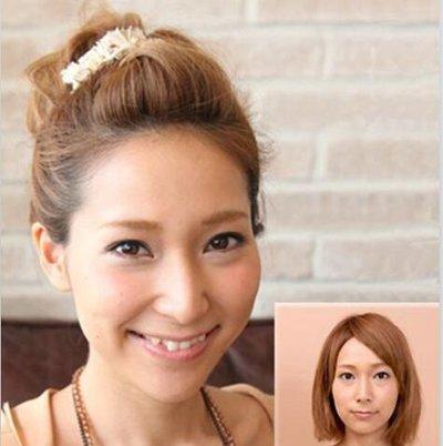 发型热点 > 短发怎么扎 >   短头发怎样扎马尾辫才好看呢?图片