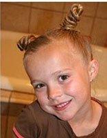 小女孩梳长发的技巧 五六岁女孩中长发的扎法