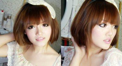 长头发如何绑出清爽的感觉 怎样把长头发绑成短头发+图解