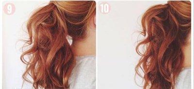 长发扎马尾如何做蓬松发型 2017流行发型女中发马尾造型