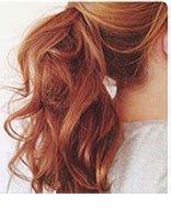 长发扎马尾如何做蓬松发型 2017流行发型女中发马尾造