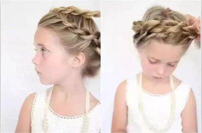 小女孩中长发的编法 女孩怎样编长发