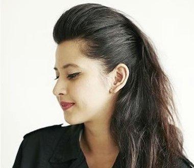 刘海往后梳的发型 教梳不同的发型长发
