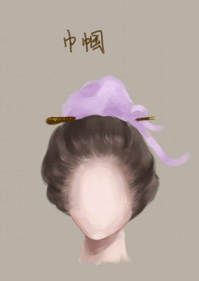 巾帼发型梳发 简单古代发型的梳发