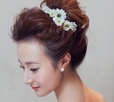 韩国卷发发卡美女 好看的韩式盘卷发