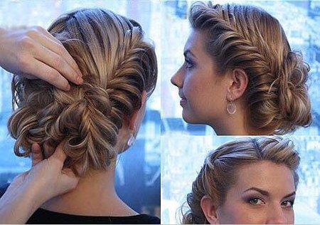 晚会长头发如何设计 两分钟给长头发漂亮造型