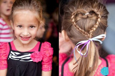 怎么给儿童短发扎辫头发长的快 儿童9岁扎头发图片