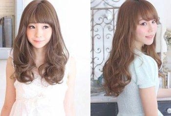 圆脸齐流海长发怎样的发型简单好看