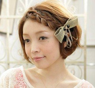 短发日系辫子发型 短头发小辫子怎么扎