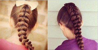 小孩长头发怎么编好看图解 花样编长头发