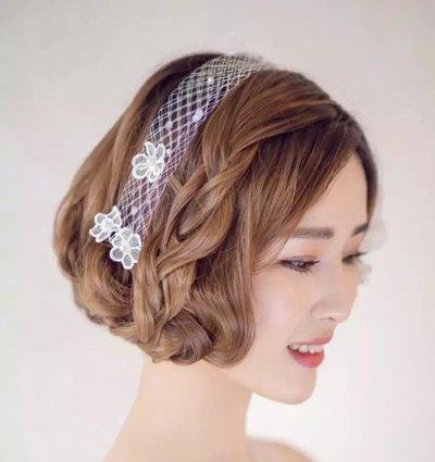 韩式中长发新娘发型 新娘中长发发型