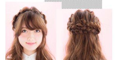 头发五股麻花辩子 女孩可爱麻花辫