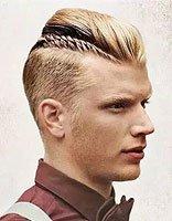 男孩短发编辫子 适合男青年的短发发型