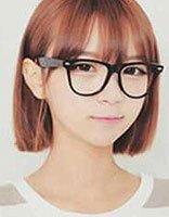 精灵黑框眼镜短发 大黑框眼镜短发