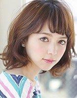 圆脸适合怎样的短发 适合圆脸的最新韩式剪短发图片