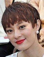 短碎发型图片 女明星短烫发发型图片