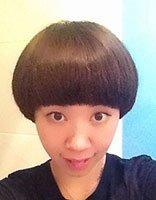 孙俪蘑菇发型图片 时尚质感的蘑菇头发型