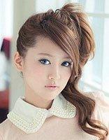 日式少头发的马尾扎发 长期扎马尾辫把头发披下来头发鼓起来怎么