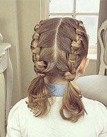 中长头发如何编辫子 儿童中长头发如何编辫子