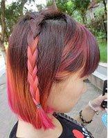 染太阳红头发 头发染靓丽的颜色