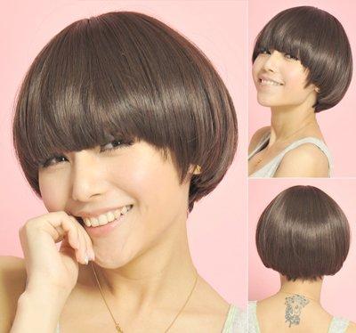 蘑菇头发型背后照片 蘑菇头发型什么样图片