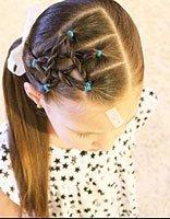 简单扎头技巧编辫子 儿童简单时尚扎发