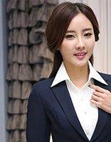 40岁职业女性长发发型 中年妇女职业装发型