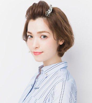 额头短配什么发型 齐耳短发扎头发发型