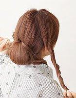 中长带卷的头发怎么盘 卷发最简单的盘发教程
