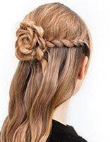 中学少女怎样梳头发好看又简单 少女长发梳法图解