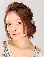 日系辫子发型(短发) 在家自己弄的短发发型