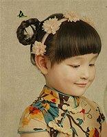 小孩长发的扎法步骤 女童长发发型怎么扎