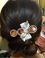 发量少的长发盘头发的方法图解 头发少最简单中长发盘发发型