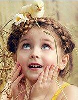 八岁小女孩长发发型设计 长发女孩精致编发发型
