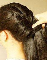 夏季长头发简单扎发 长头发蝎子辨的扎法