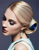 中年人中长发简单扎发 中年女性长发盘头技巧