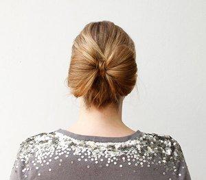 蝴蝶发型怎么梳 学生的梳头发型图解