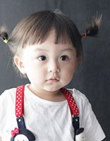 中短发发型怎么扎好看图片 宝宝短发扎发发型
