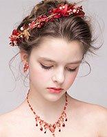 红色礼服韩版新娘发型 新娘大红礼服发型