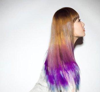 染发彩色长头发图片 长头发咋弄好看