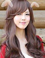 天然卷适合的发型 有刘海的好看的大卷发型