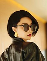 范冰冰新短发造型设计 偏分发型带出女神的帅酷